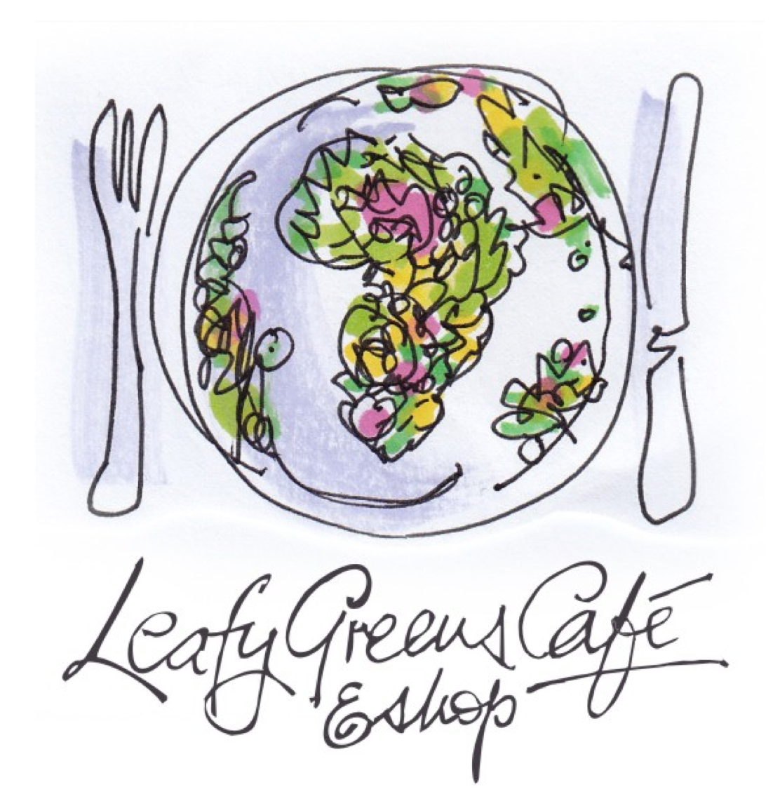logo louis leafy greens cafe